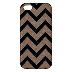 Chevron9 Black Marble & Brown Colored Pencil (r) Apple Iphone 5 Premium Hardshell Case by trendistuff