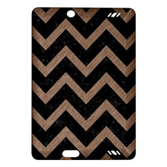 Chevron9 Black Marble & Brown Colored Pencil Amazon Kindle Fire Hd (2013) Hardshell Case by trendistuff