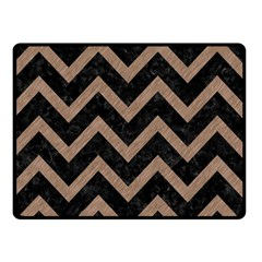 Chevron9 Black Marble & Brown Colored Pencil Double Sided Fleece Blanket (small) by trendistuff