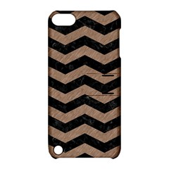 Chevron3 Black Marble & Brown Colored Pencil Apple Ipod Touch 5 Hardshell Case With Stand by trendistuff