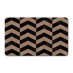 Chevron2 Black Marble & Brown Colored Pencil Magnet (rectangular) by trendistuff