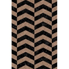 Chevron2 Black Marble & Brown Colored Pencil 5 5  X 8 5  Notebook by trendistuff