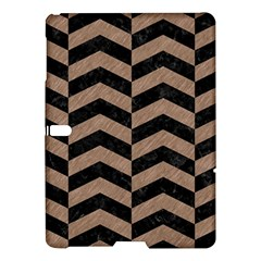 Chevron2 Black Marble & Brown Colored Pencil Samsung Galaxy Tab S (10 5 ) Hardshell Case