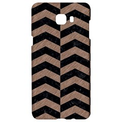 Chevron2 Black Marble & Brown Colored Pencil Samsung C9 Pro Hardshell Case  by trendistuff