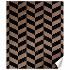 Chevron1 Black Marble & Brown Colored Pencil Canvas 20  X 24  by trendistuff