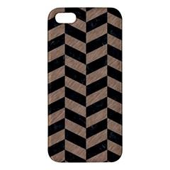 Chevron1 Black Marble & Brown Colored Pencil Iphone 5s/ Se Premium Hardshell Case by trendistuff