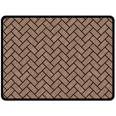 Brick2 Black Marble & Brown Colored Pencil (r) Double Sided Fleece Blanket (large) by trendistuff