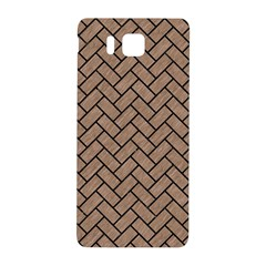 Brick2 Black Marble & Brown Colored Pencil (r) Samsung Galaxy Alpha Hardshell Back Case by trendistuff