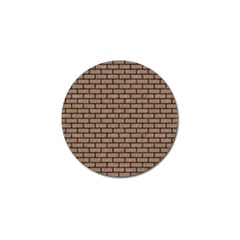 Brick1 Black Marble & Brown Colored Pencil (r) Golf Ball Marker (4 Pack) by trendistuff