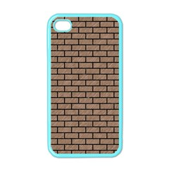 Brick1 Black Marble & Brown Colored Pencil (r) Apple Iphone 4 Case (color) by trendistuff