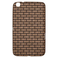 Brick1 Black Marble & Brown Colored Pencil (r) Samsung Galaxy Tab 3 (8 ) T3100 Hardshell Case  by trendistuff