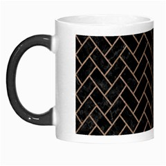 Brick2 Black Marble & Brown Colored Pencil Morph Mug by trendistuff