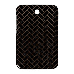 Brick2 Black Marble & Brown Colored Pencil Samsung Galaxy Note 8 0 N5100 Hardshell Case  by trendistuff