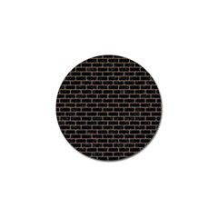 Brick1 Black Marble & Brown Colored Pencil Golf Ball Marker by trendistuff