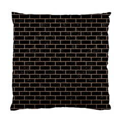 Brick1 Black Marble & Brown Colored Pencil Standard Cushion Case (two Sides) by trendistuff