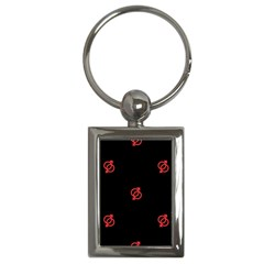 Seamless Pattern With Symbol Sex Men Women Black Background Glowing Red Black Sign Key Chains (rectangle)  by Mariart