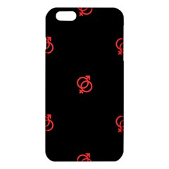 Seamless Pattern With Symbol Sex Men Women Black Background Glowing Red Black Sign Iphone 6 Plus/6s Plus Tpu Case by Mariart