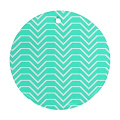 Seamless Pattern Of Curved Lines Create The Effect Of Depth The Optical Illusion Of White Wave Round Ornament (two Sides) by Mariart