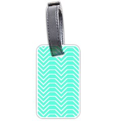 Seamless Pattern Of Curved Lines Create The Effect Of Depth The Optical Illusion Of White Wave Luggage Tags (one Side)  by Mariart