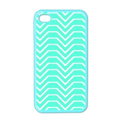 Seamless Pattern Of Curved Lines Create The Effect Of Depth The Optical Illusion Of White Wave Apple Iphone 4 Case (color) by Mariart