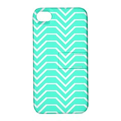 Seamless Pattern Of Curved Lines Create The Effect Of Depth The Optical Illusion Of White Wave Apple Iphone 4/4s Hardshell Case With Stand by Mariart