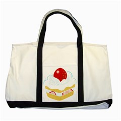 Seeds Strawberry Bread Fruite Red Two Tone Tote Bag by Mariart