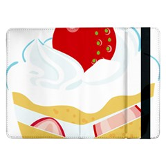 Seeds Strawberry Bread Fruite Red Samsung Galaxy Tab Pro 12 2  Flip Case