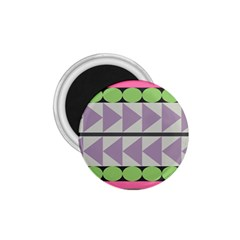Shapes Patchwork Circle Triangle 1 75  Magnets by Mariart
