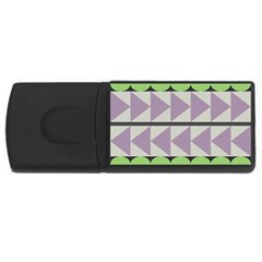 Shapes Patchwork Circle Triangle Usb Flash Drive Rectangular (4 Gb) by Mariart