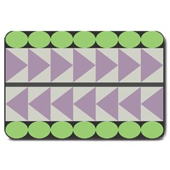 Shapes Patchwork Circle Triangle Large Doormat  by Mariart