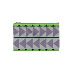 Shapes Patchwork Circle Triangle Cosmetic Bag (small)  by Mariart