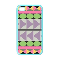 Shapes Patchwork Circle Triangle Apple Iphone 4 Case (color) by Mariart