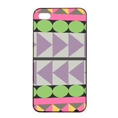 Shapes Patchwork Circle Triangle Apple Iphone 4/4s Seamless Case (black) by Mariart