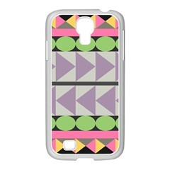 Shapes Patchwork Circle Triangle Samsung Galaxy S4 I9500/ I9505 Case (white) by Mariart