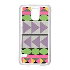 Shapes Patchwork Circle Triangle Samsung Galaxy S5 Case (white) by Mariart