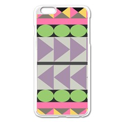 Shapes Patchwork Circle Triangle Apple Iphone 6 Plus/6s Plus Enamel White Case by Mariart