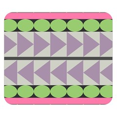 Shapes Patchwork Circle Triangle Double Sided Flano Blanket (small)  by Mariart