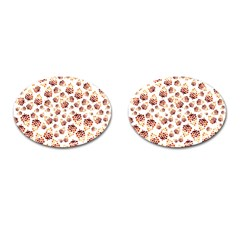 Pine Cones Pattern Cufflinks (oval) by Mariart