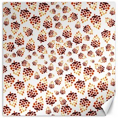 Pine Cones Pattern Canvas 12  X 12   by Mariart
