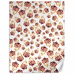Pine Cones Pattern Canvas 12  X 16   by Mariart