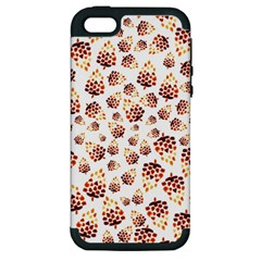 Pine Cones Pattern Apple Iphone 5 Hardshell Case (pc+silicone) by Mariart