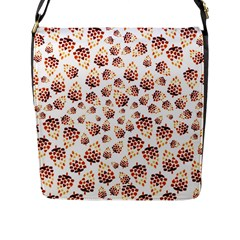 Pine Cones Pattern Flap Messenger Bag (l)  by Mariart