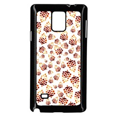 Pine Cones Pattern Samsung Galaxy Note 4 Case (black) by Mariart