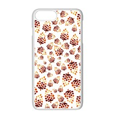 Pine Cones Pattern Apple Iphone 7 Plus White Seamless Case by Mariart