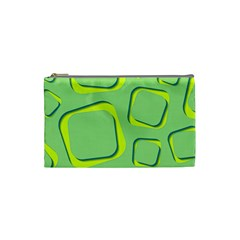 Shapes Green Lime Abstract Wallpaper Cosmetic Bag (small)  by Mariart