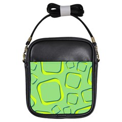 Shapes Green Lime Abstract Wallpaper Girls Sling Bags by Mariart