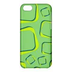 Shapes Green Lime Abstract Wallpaper Apple Iphone 5c Hardshell Case by Mariart
