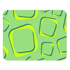 Shapes Green Lime Abstract Wallpaper Double Sided Flano Blanket (large)  by Mariart