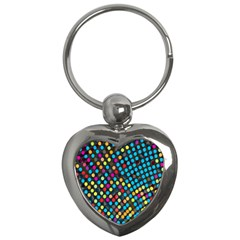 Polkadot Rainbow Colorful Polka Circle Line Light Key Chains (heart)  by Mariart