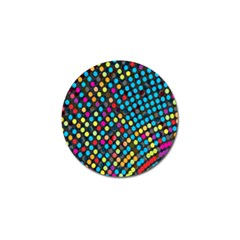Polkadot Rainbow Colorful Polka Circle Line Light Golf Ball Marker (4 Pack) by Mariart